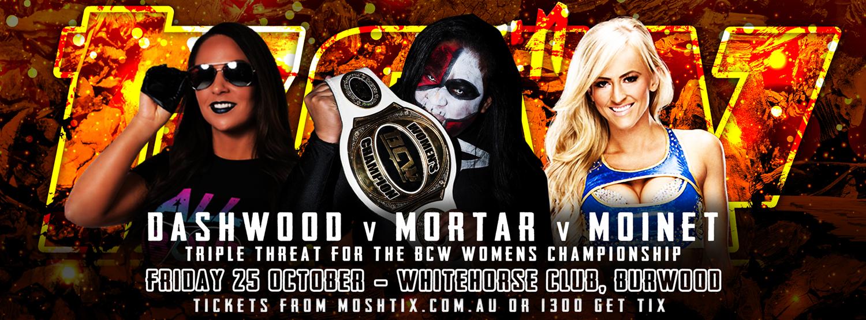 BCW34 - Friday 25 October - Whitehorse Club, Burwood